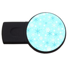 Blue Xmas pattern USB Flash Drive Round (1 GB)