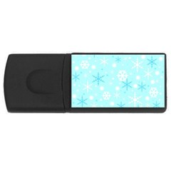 Blue Xmas pattern USB Flash Drive Rectangular (2 GB)