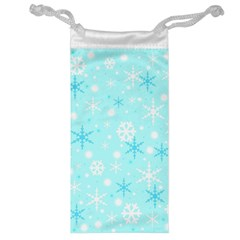 Blue Xmas pattern Jewelry Bags