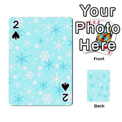 Blue Xmas pattern Playing Cards 54 Designs