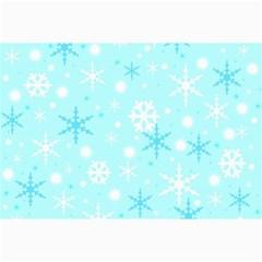 Blue Xmas pattern Collage Prints