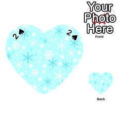 Blue Xmas pattern Playing Cards 54 (Heart)
