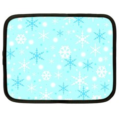 Blue Xmas pattern Netbook Case (Large)