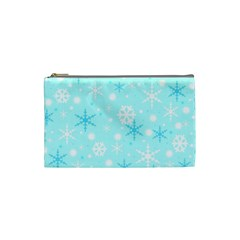 Blue Xmas pattern Cosmetic Bag (Small)