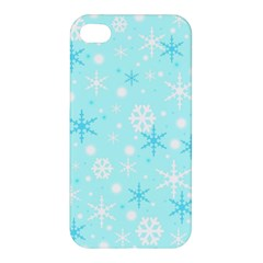 Blue Xmas pattern Apple iPhone 4/4S Hardshell Case