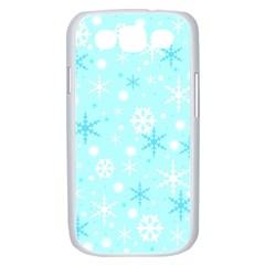 Blue Xmas pattern Samsung Galaxy S III Case (White)