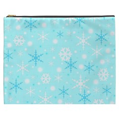Blue Xmas pattern Cosmetic Bag (XXXL)