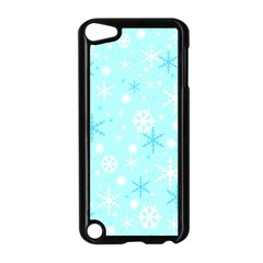 Blue Xmas pattern Apple iPod Touch 5 Case (Black)