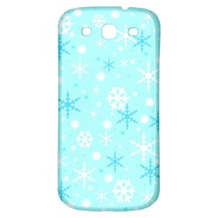 Blue Xmas pattern Samsung Galaxy S3 S III Classic Hardshell Back Case