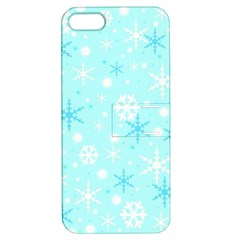Blue Xmas pattern Apple iPhone 5 Hardshell Case with Stand