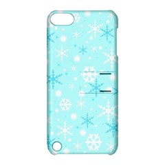 Blue Xmas pattern Apple iPod Touch 5 Hardshell Case with Stand