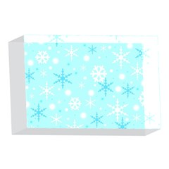 Blue Xmas pattern 4 x 6  Acrylic Photo Blocks
