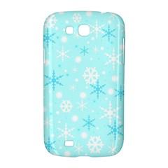 Blue Xmas pattern Samsung Galaxy Grand GT-I9128 Hardshell Case