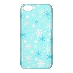 Blue Xmas pattern Apple iPhone 5C Hardshell Case