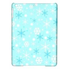 Blue Xmas pattern iPad Air Hardshell Cases