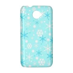 Blue Xmas pattern HTC Desire 601 Hardshell Case