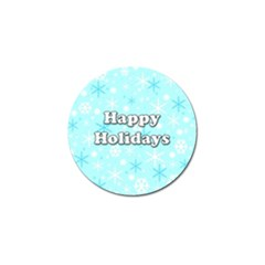 Happy holidays blue pattern Golf Ball Marker (10 pack)