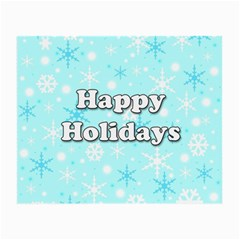 Happy holidays blue pattern Small Glasses Cloth