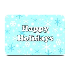Happy holidays blue pattern Plate Mats