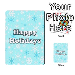 Happy holidays blue pattern Multi-purpose Cards (Rectangle)