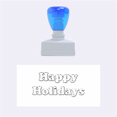 Happy holidays blue pattern Rubber Stamps (Medium)
