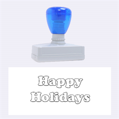 Happy holidays blue pattern Rubber Stamps (Large)