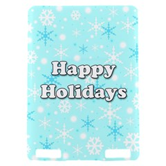 Happy holidays blue pattern Kindle Touch 3G