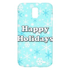 Happy holidays blue pattern Samsung Galaxy S II Skyrocket Hardshell Case