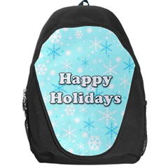 Happy holidays blue pattern Backpack Bag