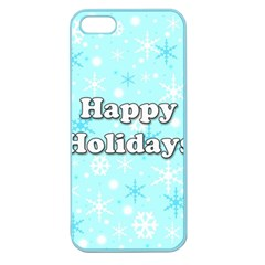 Happy holidays blue pattern Apple Seamless iPhone 5 Case (Color)