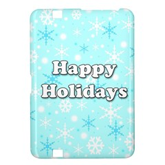 Happy holidays blue pattern Kindle Fire HD 8.9
