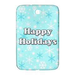 Happy holidays blue pattern Samsung Galaxy Note 8.0 N5100 Hardshell Case