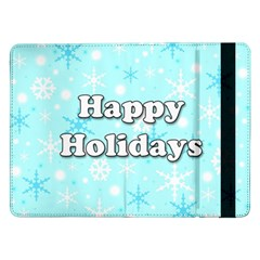 Happy holidays blue pattern Samsung Galaxy Tab Pro 12.2  Flip Case