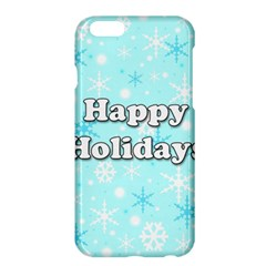 Happy holidays blue pattern Apple iPhone 6 Plus/6S Plus Hardshell Case