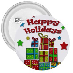Happy Holidays - gifts and stars 3  Buttons