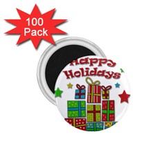 Happy Holidays - gifts and stars 1.75  Magnets (100 pack)