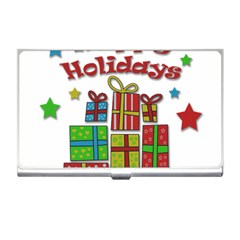 Happy Holidays - gifts and stars Business Card Holders