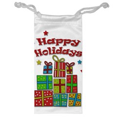 Happy Holidays - gifts and stars Jewelry Bags