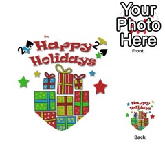 Happy Holidays - gifts and stars Playing Cards 54 (Heart)