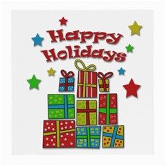 Happy Holidays - gifts and stars Medium Glasses Cloth (2-Side)