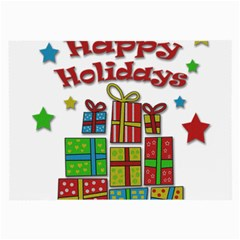 Happy Holidays - gifts and stars Large Glasses Cloth (2-Side)