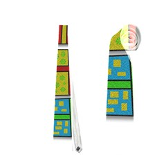 Happy Holidays - gifts and stars Neckties (Two Side)