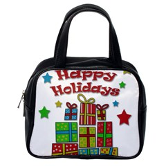 Happy Holidays - gifts and stars Classic Handbags (One Side)