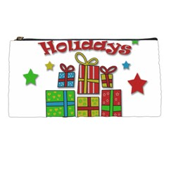 Happy Holidays - gifts and stars Pencil Cases