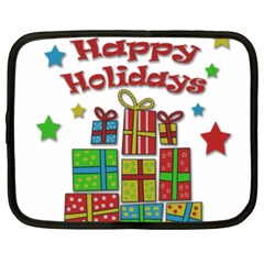 Happy Holidays - gifts and stars Netbook Case (XXL)