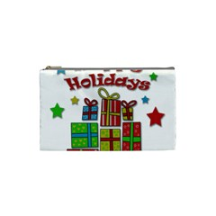 Happy Holidays - gifts and stars Cosmetic Bag (Small)