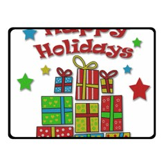 Happy Holidays - gifts and stars Fleece Blanket (Small)
