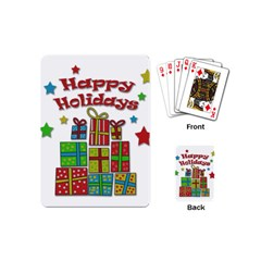 Happy Holidays - gifts and stars Playing Cards (Mini)
