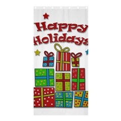 Happy Holidays - gifts and stars Shower Curtain 36  x 72  (Stall)