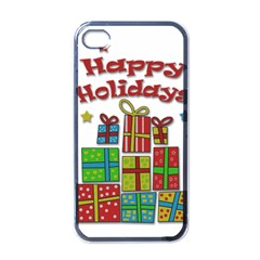 Happy Holidays - gifts and stars Apple iPhone 4 Case (Black)